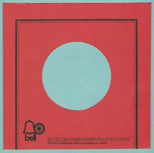 BELL RECORDS (u.s. red) - REPRODUCTION RECORD COMPANY SLEEVES - (pack of 10)
