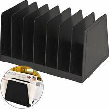 Desktop File Organizer Vertical File Sorter Letter Holder Durable Plastic Rack