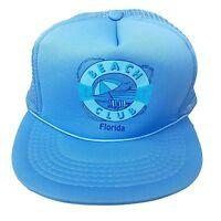 Florida Beach Club - Vintage - Snapback Trucker Baseball Hat Cap - Ocean Blue