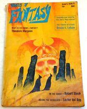 December Vintage Paperback Sci-Fi Magazines in English