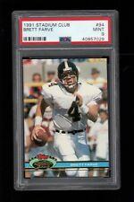 1991 Stadium Club FB #94 Brett Favre Green Bay Packers ROOKIE CARD PSA 9 !!!!