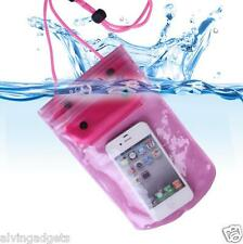 Waterproof Pouch Bag Cover Case For Gadgets Asus Vivo Oppo iPhone LG(Red)
