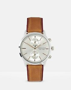 Joules Mens Bridgedale  Leather Strap Watch - Tan - One Size