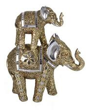 Mother & Baby Elephants  (Gold)