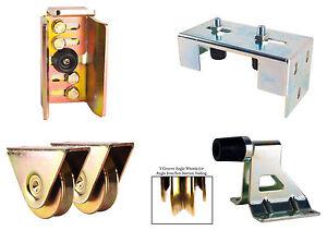 Angula Sliding Gate Kit for Medium to Large gate - stop, keep, bolt on wheels