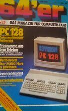 64er (64´er) 06/85 Juni 1985 C64 Commodore (C128, DFÜ, Typenraddrucker)