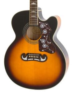 Epiphone J-200 EC Studio Electro-Acoustic Guitar, Vintage Sunburst (NEW)
