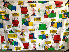 1971,Vintage Factory New, Unused,Peanuts,Snoopy,Happiness is,Twin Flat Bed Sheet