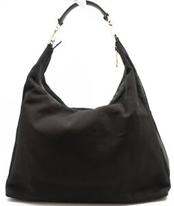 GUCCI HOBO HANDTASCHE HAND BAG TASCHE SCHULTERTASCHE SHOULDER BAG XL STOFF LEDER