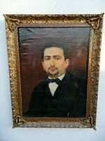 Luigi Crosio (Alba, 1835 - Torino 1915) olio su tela ritratto nobile uomo 65x50