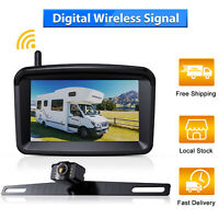 "Xroose Wireless Backup Camera License Plate System 5"" Monitor Kit Car Rear View"