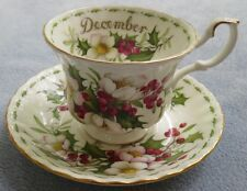 Royal Albert Flower of the Month Cup Saucer Set December Christmas Rose ENGLAND