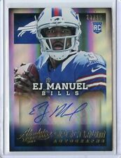 2013 ABSOLUTE CARD NO.130 EJ MANUEL AUTOGRAPH PATCH ROOKIE RC #235/25,BILLS