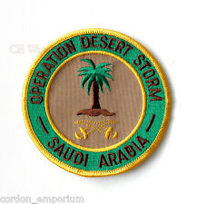 OPERATION DESERT STORM GULF WAR SAUDI ARABIA ARMY EMBROIDERED PATCH 3 INCHES