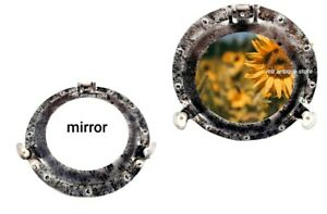 12'' Nautical Ship Porthole Mirror Solid Aluminum Beautiful Décor Antique Finish