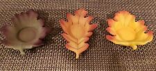 PARTYLITE ~ SET OF 3 WHISPERING LEAVES VOTIVE or TEA LIGHT CANDLE HOLDERS Autumn