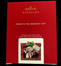 Hallmark 2020 Ornament Family'S The Greatest Gift Photo Frame Holder New In Box