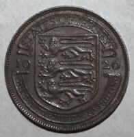 British Jersey 1/24th Shilling Coin, 1926 - KM# 13 UK George V One Twenty Fourth