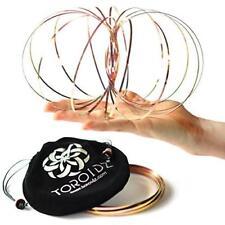 Genuine toroidz + Bolsa De Terciopelo-brazo Slinky Dance/flujo de utilería, Plata, Oro, Arco Iris