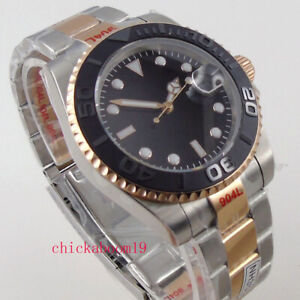 40mm Sterile Dial Brushed Bezel Sapphire date NH35A MIYOTA Automatic mens watch
