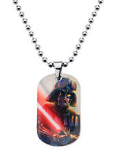 Star Wars Graphic Darth Vader Kids Dog Tag Pendant Stainless Steel Necklace