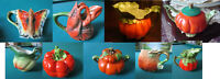 ROYAL BAYREUTH BAVARIA TOMATO COLLECTION CREAMER TEAPOT CUP COVERED SUGAR