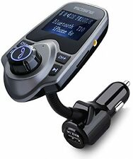 VicTsing Bluetooth FM Transmitter, Wireless In-Car FM Transmitter Radio Adapter