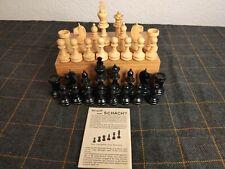 Schachfiguren aus Holz - Vintage - mit Aufbewahrungsbox - Top 1A Zustand