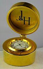 Small Hamilton Brass Desk Clock Swiss Parts Movement China Case