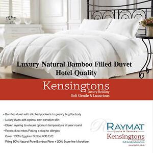 Kensingtons®  Bamboo Duvet Comforter Egyptian Cotton Cover Luxury All Tog Sizes