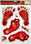 Halloween Footprints Window Stickers Feet Blood Party Decorations Horror Spooky