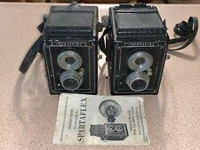 2 Vintage Spartus Spartaflex Film Cameras, 1 Instruction Manual