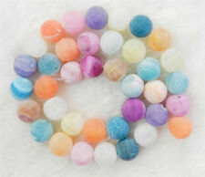 """AAA+10mm Multicolor Dream Fire Dragon Veins Agate Round Gems Loose Beads 15"""""""