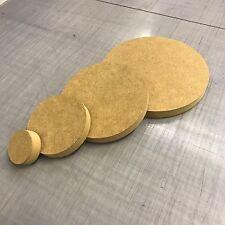 MDF Circle - Range of sizes - Crafts - wood working - blank - plaque - cnc cut