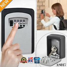 4 Digit Outdoor High Security Wall Mounted Key Safe Box Code Lock Storage AS017
