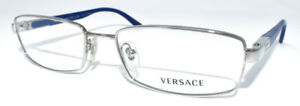 NEW Versace Eyeglasses 1156 Col Blue Chrome 1020 52-17-135 Authentic