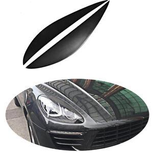 For Porsche Macan 2014-2018 2PCS FRP Auto HeadLight Eyelid Eyebrows Trim