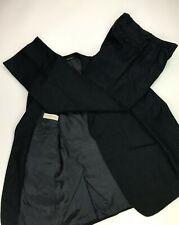 Men's Dark Navy Blue Pinstriped Emporio Armani Suit 40R W33 L32 Wool Vintage A