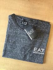 Mens Emporio Armani EA7 Cotton T-Shirt Grey Short Sleeve Size-Medium RRP £85