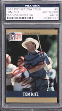 TOM KITE HAND SIGNED CARD PSA DNA AUTO 1990 PRO SET PGA TOUR #6
