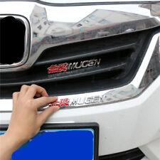 MUGEN Red Chrome Metal Grille Emblem + Badge Sticker MotorSport Hatchback Car 3D