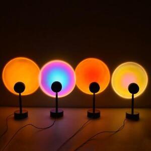LED Rainbow Sun Sunset Projector USB Atmosphere Light Lamp Iron Party Ornaments