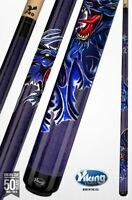 Viking Pool Cue - Dragon - Blue