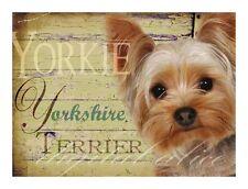 YORKSHIRE TERRIER DOG Art Print Poster-yorkie-Vintage Series Wendy Presseisen