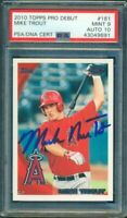 2010 Topps Pro Debut Mike Trout RC Rookie Autograph PSA 9 10 Full Name Autograph