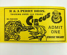 LOT of 6 Vintage Australia's R & A RERRY BROS. CIRCUS TICKETS Original