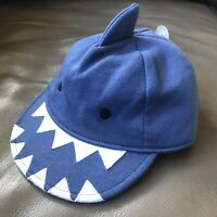 29f62558fd7 GAP babyGap BLUE SHARK Baby Infant Boys Baseball Cap Hat 0-6 Months 100%
