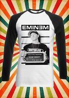 Eminem Slim Shady Rap Cool Fun Men Women Long Short Sleeve Baseball T Shirt 2139