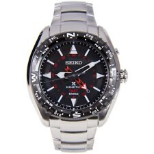 **NEW** SEIKO MENS PROSPEX KINETIC DUAL TIME WATCH BLACK RED SUN049 RRP £399