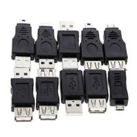 10pcs OTG 5pin F/M Changer Adapter Converter USB Male to Female Micro USB R1BO